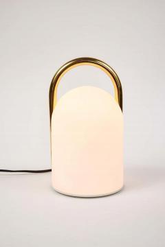 Romolo Lanciani 1980s Romolo Lanciani Brass and Glass Tender Table Lamp for Tronconi - 1750451