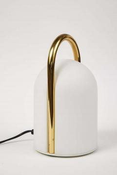 Romolo Lanciani 1980s Romolo Lanciani Brass and Glass Tender Table Lamp for Tronconi - 1750452
