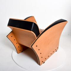 Ron Arad Ron Arad Fauteuil Rubber Crust Beech Black Arm Chair Contemporary Modern 1980s - 1996017