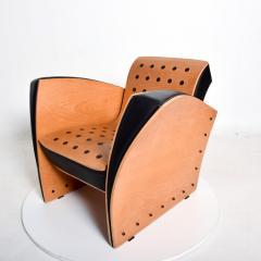 Ron Arad Ron Arad Fauteuil Rubber Crust Beech Black Arm Chair Contemporary Modern 1980s - 1996018