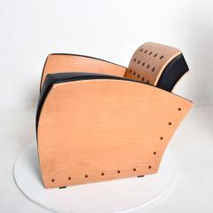 Ron Arad Ron Arad Fauteuil Rubber Crust Beech Black Arm Chair Contemporary Modern 1980s - 1996019