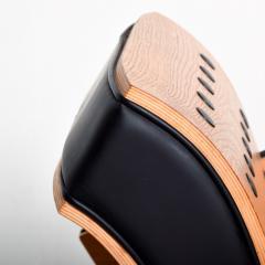 Ron Arad Ron Arad Fauteuil Rubber Crust Beech Black Arm Chair Contemporary Modern 1980s - 1996022