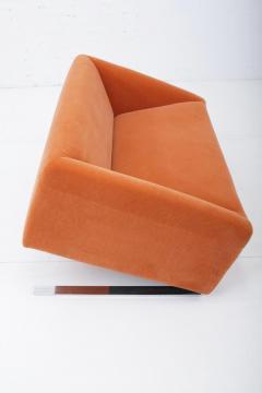 Ron Arad Tilt Sofa in Orange Mohair Circa 1980 - 1607348