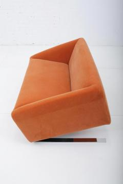 Ron Arad Tilt Sofa in Orange Mohair Circa 1980 - 1607350