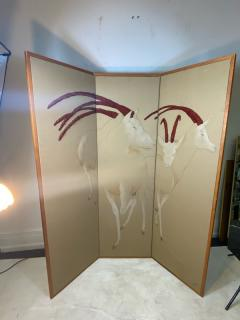 Ron Fritts EXTRAORDINARY FABRIC SCREEN OF ANTELOPES BY RON FRITTS - 2124501