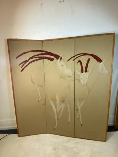 Ron Fritts EXTRAORDINARY FABRIC SCREEN OF ANTELOPES BY RON FRITTS - 2124502