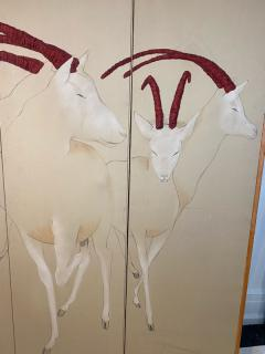 Ron Fritts EXTRAORDINARY FABRIC SCREEN OF ANTELOPES BY RON FRITTS - 2124503