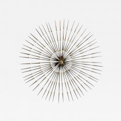 Ron Schmidt Mid Century Gilded Metal Sunburst Wall Sculpture by Ron Schmidt - 361478