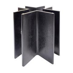 Ronald Schmitt Ronald Schmitt Coffee Table in Black Steel with Glass Top 1970s - 1676488