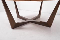 Ronald Schmitt Ronald Schmitt Fossil Stone Top Coffee Table Germany 1970s - 1622825