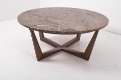 Ronald Schmitt Ronald Schmitt Fossil Stone Top Coffee Table Germany 1970s - 1622826
