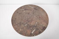 Ronald Schmitt Ronald Schmitt Fossil Stone Top Coffee Table Germany 1970s - 1622827