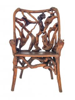 Root Wood Arm Chair - 1882790