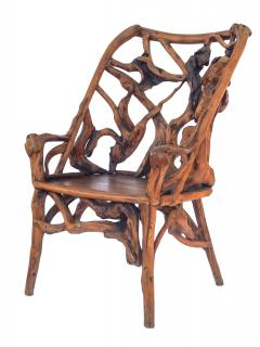 Root Wood Arm Chair - 1882791