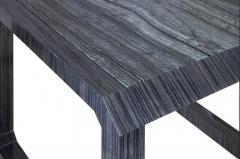 Roric Tobin Designs Contemporary Dark Wood and Marble Side Table - 1439992