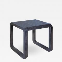 Roric Tobin Designs Contemporary Dark Wood and Marble Side Table - 1444921