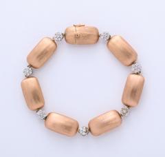 Rose Gold and Diamond Cluster Bracelet - 1012159