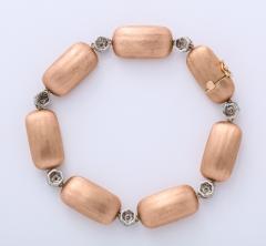 Rose Gold and Diamond Cluster Bracelet - 1012161
