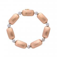Rose Gold and Diamond Cluster Bracelet - 1012839