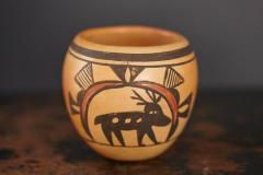 Rosetta Huma Native American Hopi Polychromed Earthenware Pot by Rosetta Huma circa 1960s - 563134
