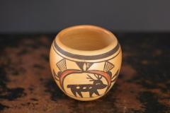 Rosetta Huma Native American Hopi Polychromed Earthenware Pot by Rosetta Huma circa 1960s - 563136