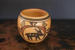 Rosetta Huma Native American Hopi Polychromed Earthenware Pot by Rosetta Huma circa 1960s - 563137