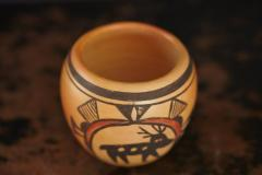 Rosetta Huma Native American Hopi Polychromed Earthenware Pot by Rosetta Huma circa 1960s - 563141