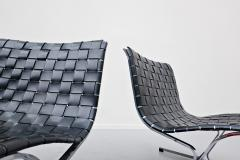 Ross F Littell Pair Of Italian Lounge Chairs By Ross Littell For ICF 1970s - 1891558