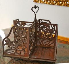 Rotating Art Nouveau Bookcase - 1202131