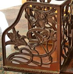 Rotating Art Nouveau Bookcase - 1202276