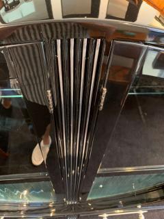 Round Art Deco Vitrine Black Lacquer France circa 1930 - 1123969