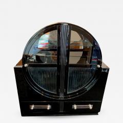 Round Art Deco Vitrine Black Lacquer France circa 1930 - 1137810