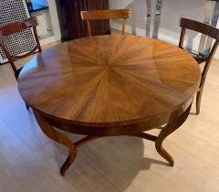 Round Biedermeier Table Walnut Veneer and Roots South Germany circa 1825 - 1201719