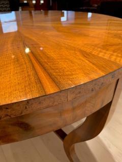 Round Biedermeier Table Walnut Veneer and Roots South Germany circa 1825 - 1201720