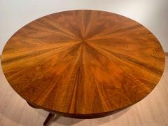Round Biedermeier Table Walnut Veneer and Roots South Germany circa 1825 - 1201721