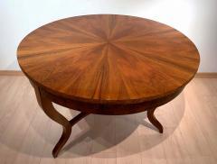 Round Biedermeier Table Walnut Veneer and Roots South Germany circa 1825 - 1201722