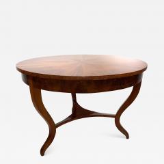 Round Biedermeier Table Walnut Veneer and Roots South Germany circa 1825 - 1201740