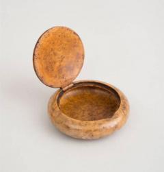Round Burl Birch Snuff Box Early 20th Century - 1341947