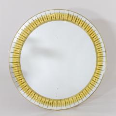 Round Crystal Arte Wall Mirror - 2062481