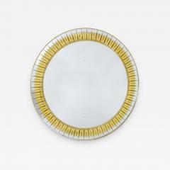 Round Crystal Arte Wall Mirror - 2064460