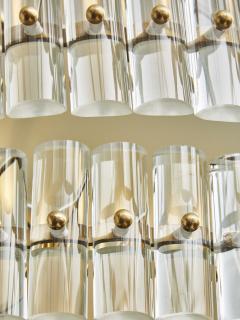 Round Multi Layers Glass Chandelier - 1663877