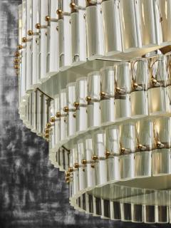 Round Multi Layers Glass Chandelier - 1663879