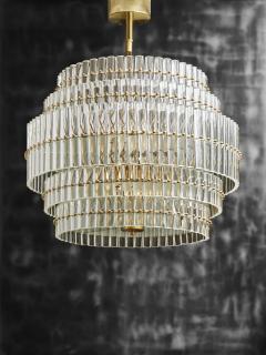 Round Multi Layers Glass Chandelier - 1663881