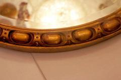 Round Neoclassic Giltwood Mirror - 631942