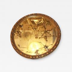 Round Neoclassic Giltwood Mirror - 633183