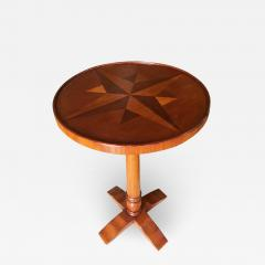 Round Oak Smokers Side Cigar Table w Inlay Top - 1349281
