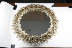 Round backlit mirror with faceted Austrian Swarovski Crystals  - 2055431