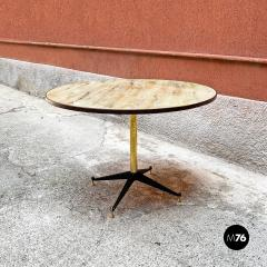 Round table with marble effect 1950s - 2135178