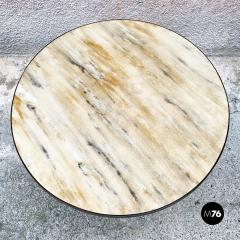 Round table with marble effect 1950s - 2135191