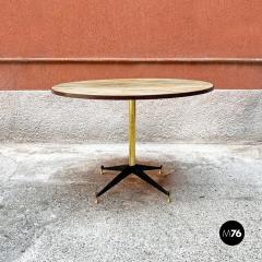 Round table with marble effect 1950s - 2135192